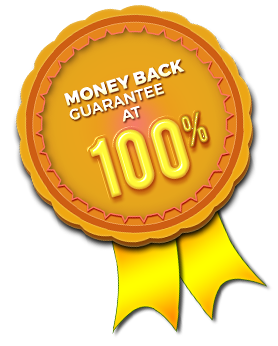 Money back guarantee at 100%