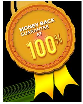 Money back guarantee at 100%